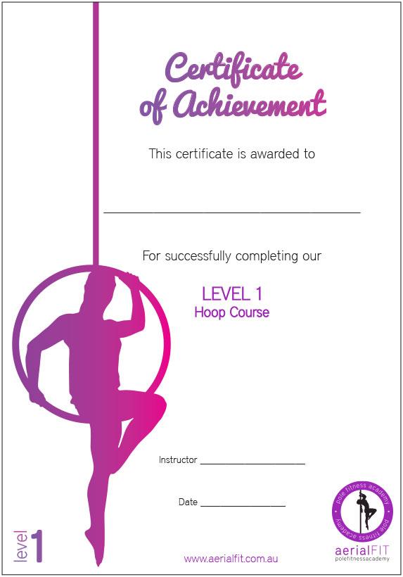 AerialFIT certificate
