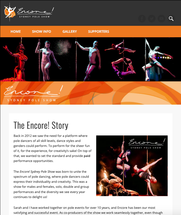 Encore website