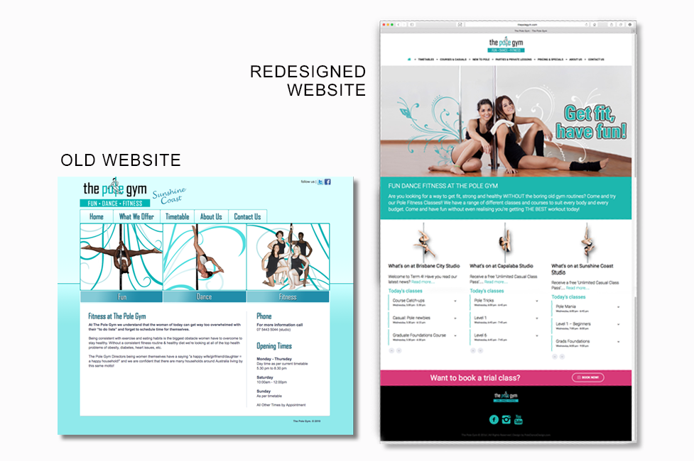 The Pole Gym website revamp