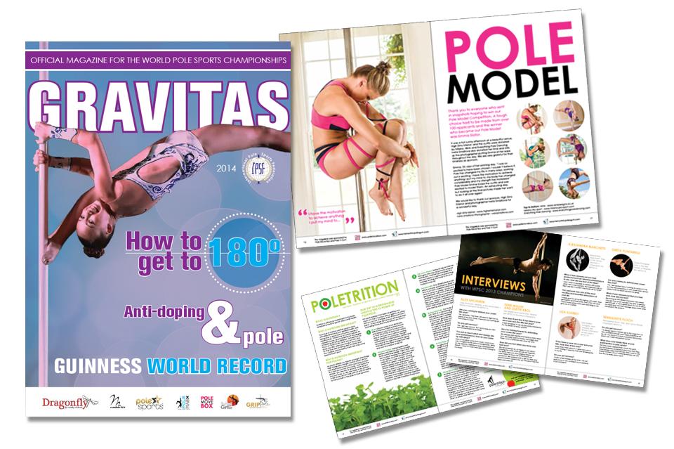 Gravitas pole magazine