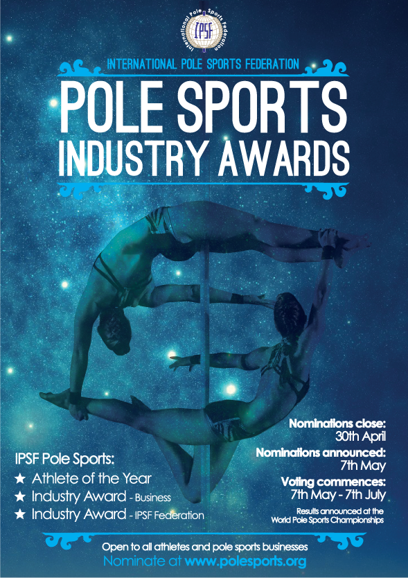 Pole sports industry awards poster