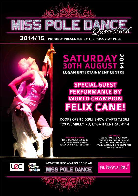Miss Pole Dance Queensland poster