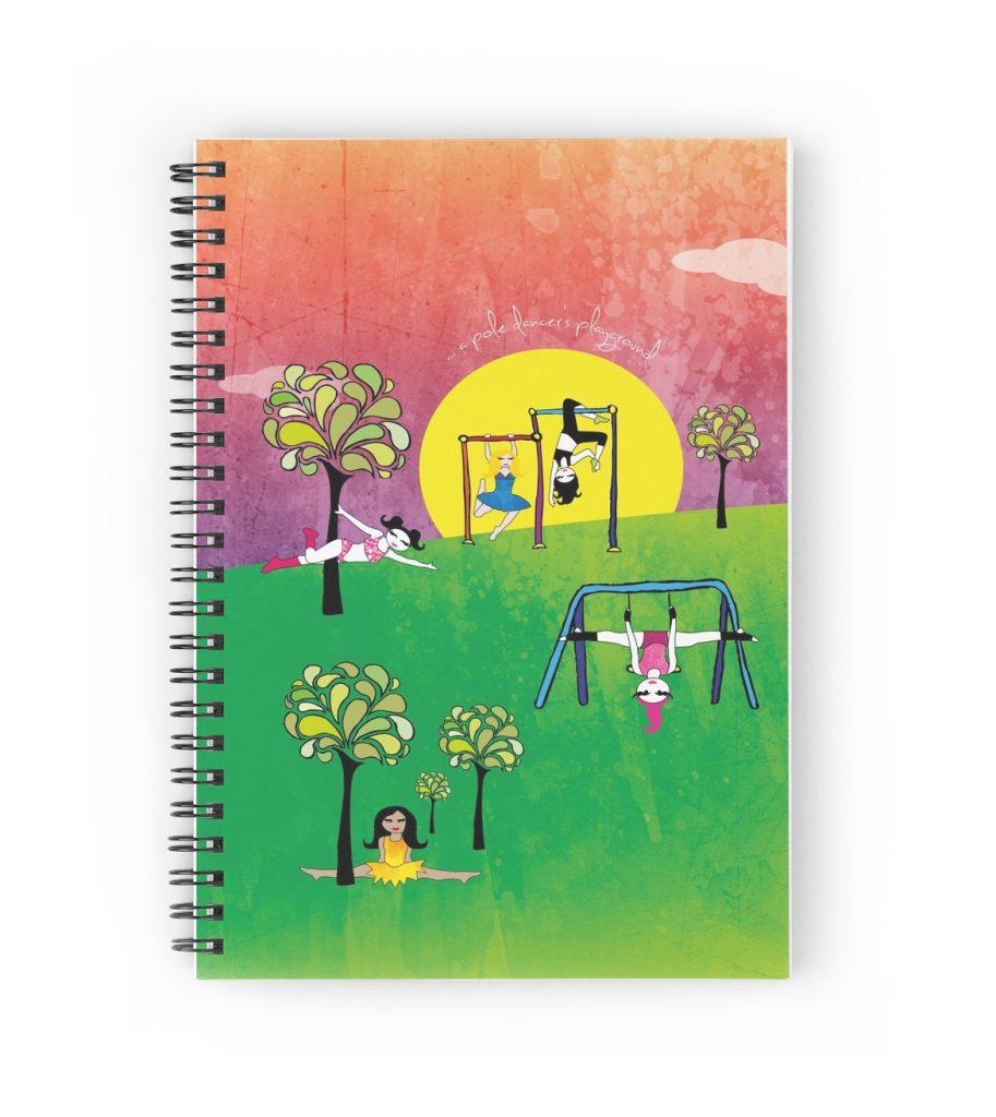 Pole dancer's playground notebook
